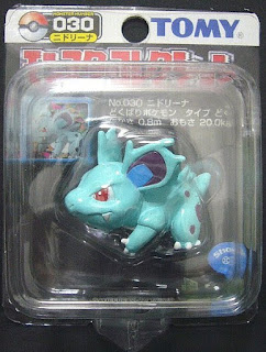 Nidorina Pokemon figure Tomy Monster Collection black package series