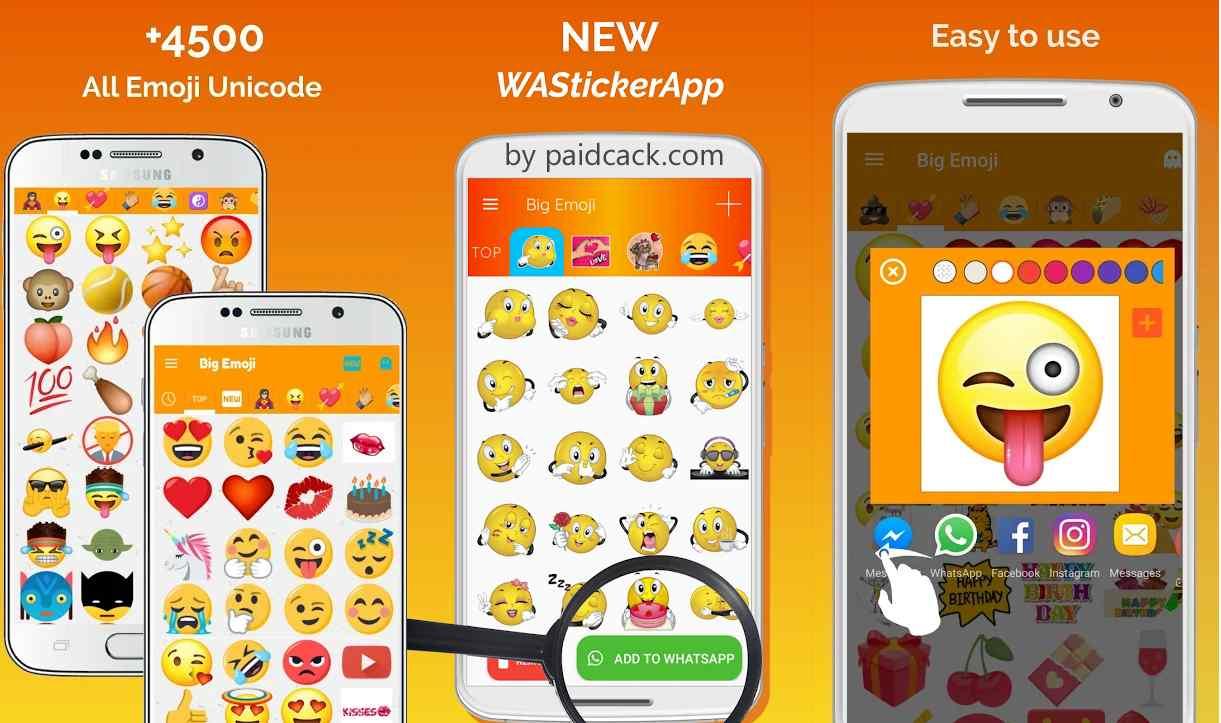 Big Emoji - Large Emoji For All Chat Messengers Premium Mod Apk 6.6.0