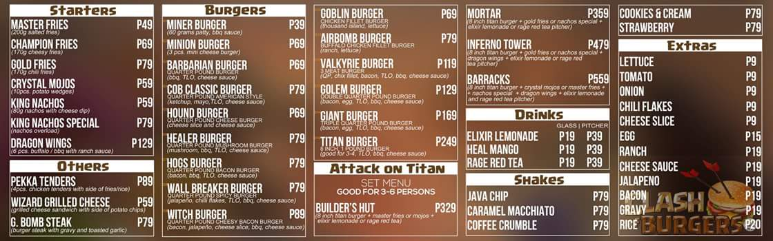 Full Menu of COB