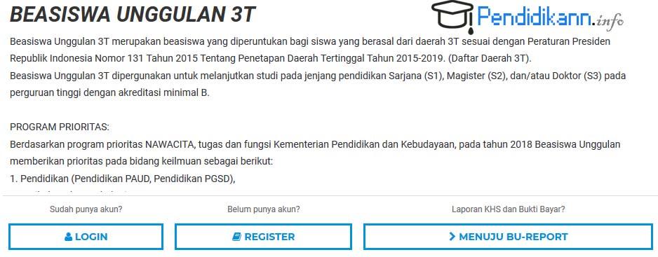 Info Beasiswa Unggulan 3T Kemendikbud Terbaru