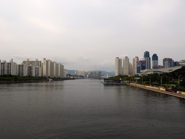 River area next to Centum City shopping mall, Busan, South Korea