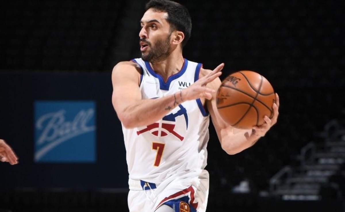 Facundo Campazzo aporto siete puntos en el triunfo de Denver sobre Houston en la NBA