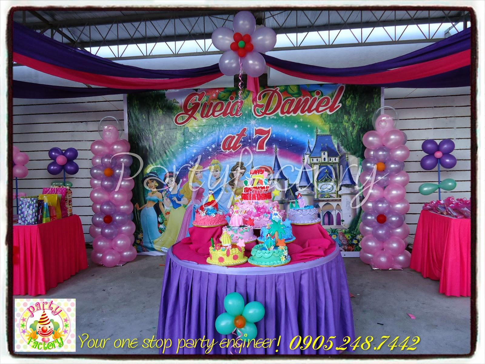 Birthday Decorations: Welcome To PartyFactory Cebu: GUEIA DANIELS' 7th BIRTHDAY