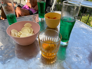 Valtorata - ending the hike with a crodino and mint drink.