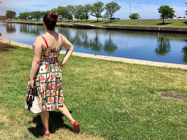 collectif tiki swing dress