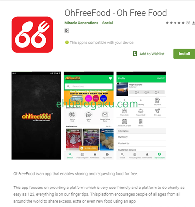 Appstore apps,download apps.oh free food,charity food apps