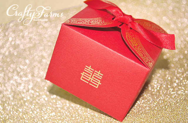 Double Happiness Red Wedding Favour Boxes
