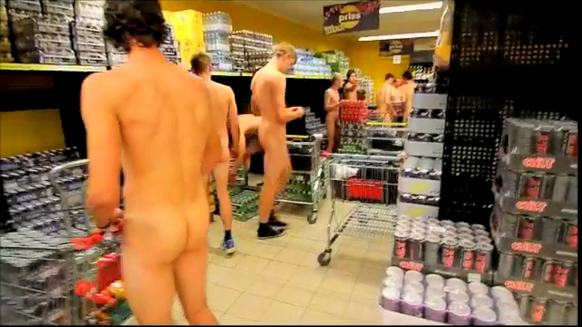 naked boys shopping