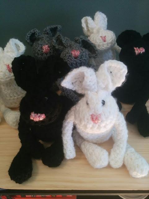 Hand Made Crochet Bunny, Bliss-Ranch.com