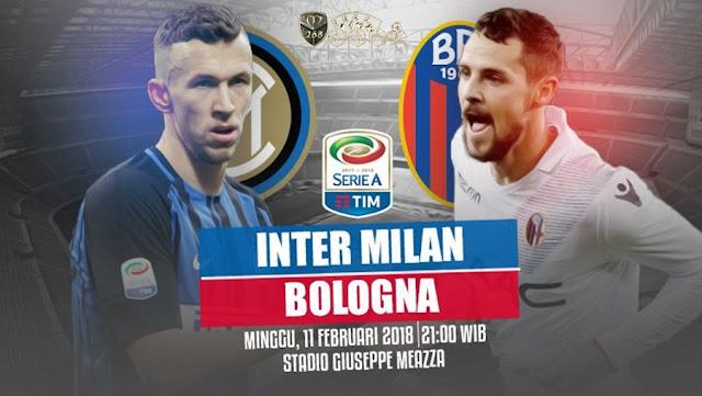 Prediksi Inter Milan Vs Bologna, Minggu 11 February 2018 Pukul 21.00 WIB