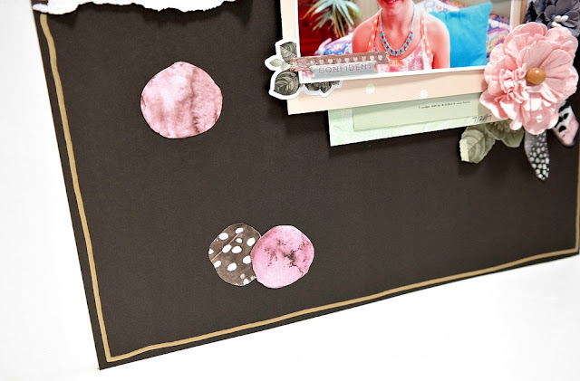 Hello Beautiful Scrapbook Layout with Gold Paint Pen Border