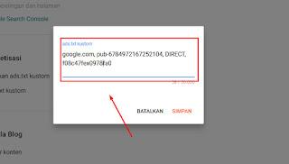 Install App-ads.txt Admob In New Blogger