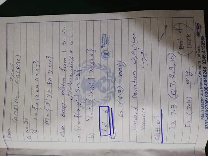 AMBITIOUS EDUCATION SYSTEM GUESS MATHEMATICS URDU & ENGLISH