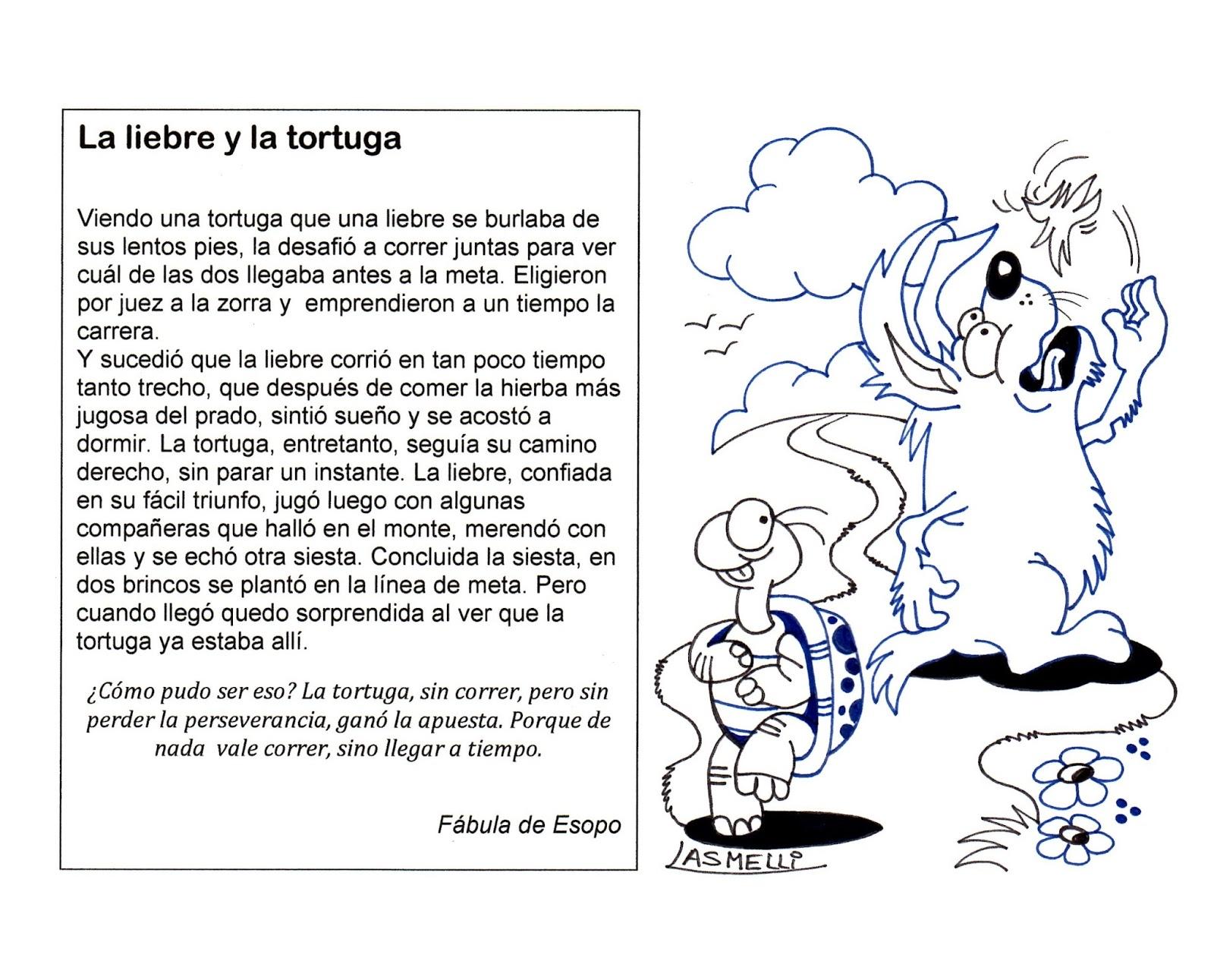 El Rincón de las Melli: FÁBULA: La liebre y la tortuga (para ...