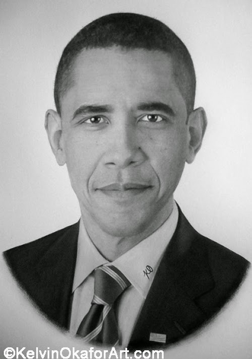 18-Barack-Obama-Kelvin-Okafor-Celebrity-Portrait-Drawings-Full-of-Emotions-www-designstack-co