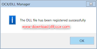 the dll file has been registered successfuly