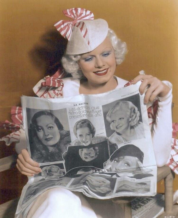 A Vintage Nerd Vintage Blog Celebrity Readers Old Hollywood Stars Classic Film Blog Jean Harlow
