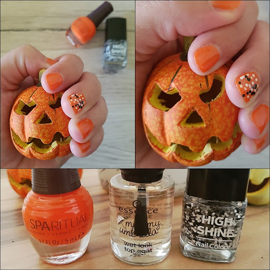 Happiness Is The Only Rule: Hello October - simple Fall Nail Design!