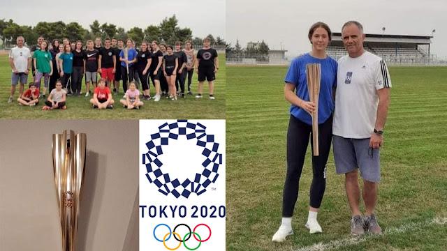 Στον Αριστέα Άργους η Ολυμπιακή δάδα του ΤOKYO 2020 από την 4 φορές πανελληνιονίκη Ελένη Δήμα