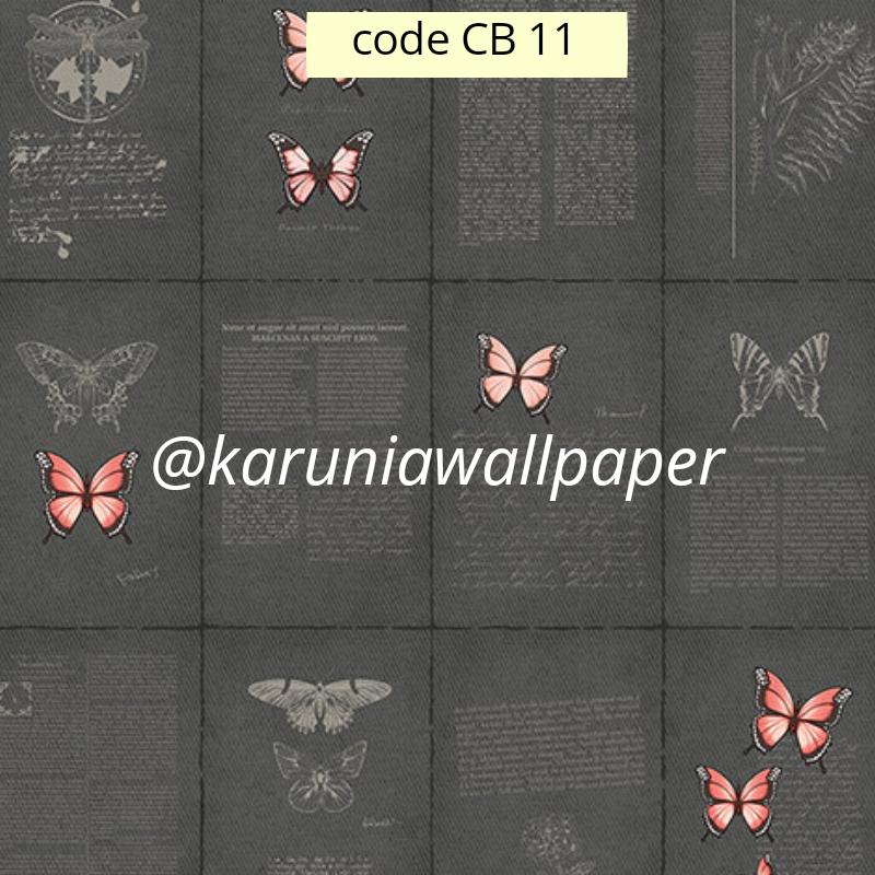 toko wallpaper motif unik kupu kupu