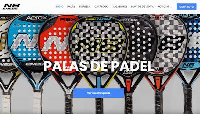 ENEBE Pádel inaugura su nueva página web.