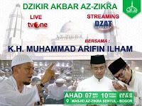 Hadiri Zikir Akbar Majelis Az-Zikra Besok Pagi Bersama Gubernur DKI Jakarta Terpilih