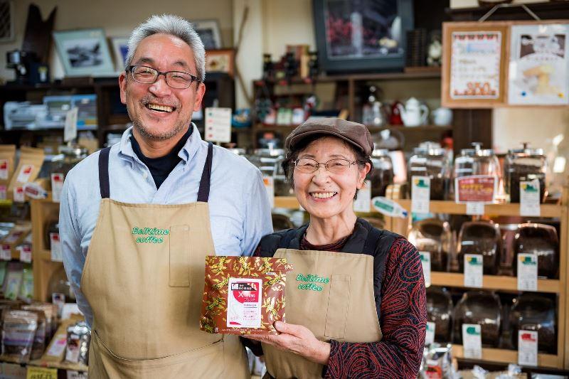 Meet Suzuki-san and his mum at Bell Time Coffee - Kamakura box