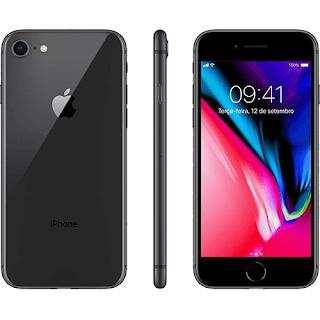 "iPhone 8 64GB Cinza Espacial Tela 4.7"" IOS 4G Câmera 12MP Apple"