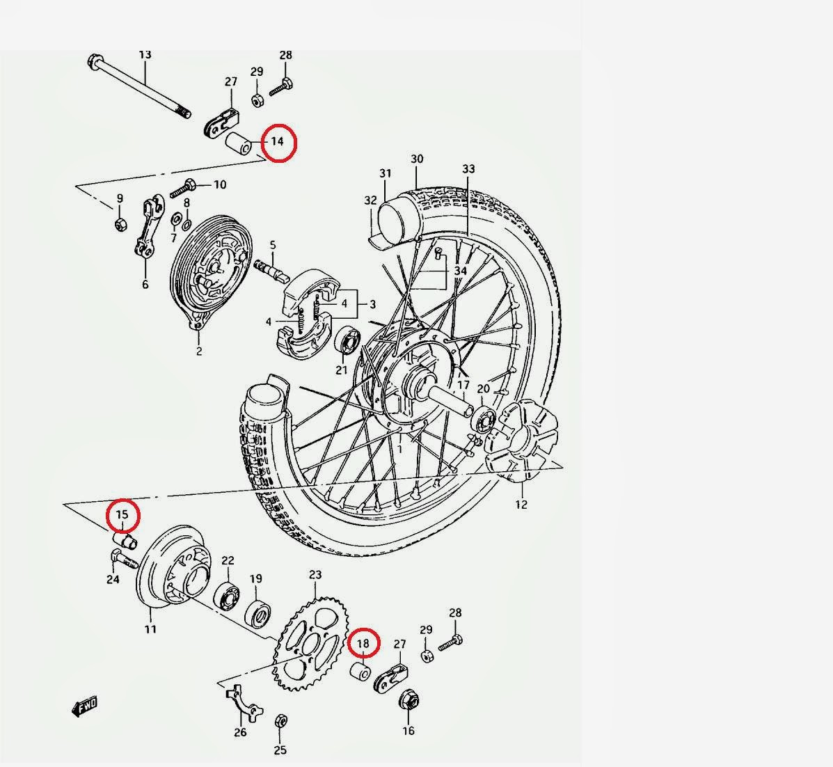 Suzuki AX100 Pasión por 2T: Tutorial Como sacar la rueda