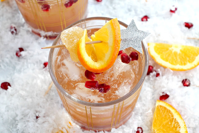 Two classic cocktails come together into one delicious & bubbly concoction in this Pomegranate Mimosa Mule. Perfect for a midnight toast or a weekend brunch!