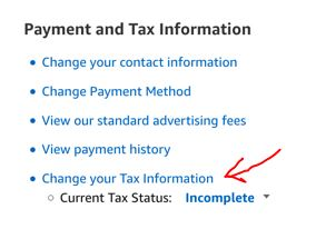 Change your Tax Information