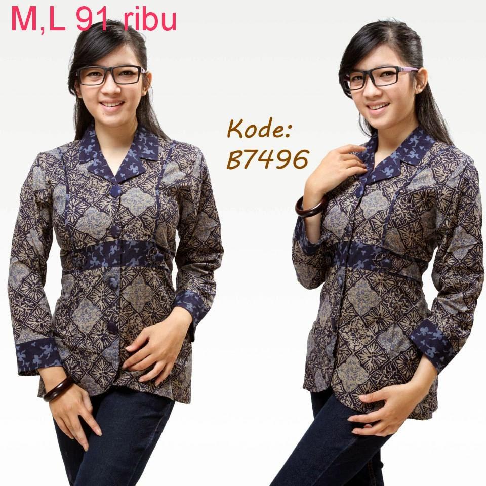 Referensi Model Batik Kerja: Model Baju Batik Untuk Kerja Kantor