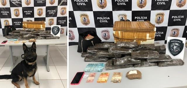 POLÍCIA CIVIL REALIZA PRISÃO EM FLAGRANTE DE TRAFICANTE E APREENDE GRANDE QUANTIDADE DE DROGA EM ITAPECURU-MIRIM/MA