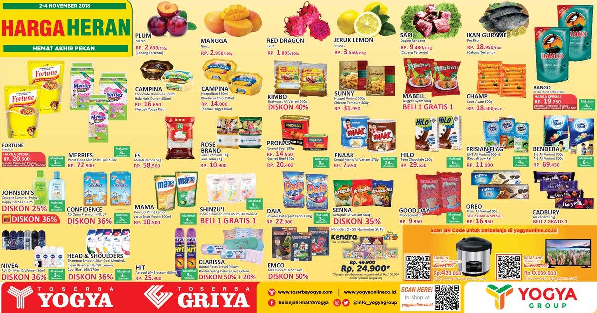 Yogya - Promo Katalog Hemat Akhir Pekan Periode 02 - 04 November 2018
