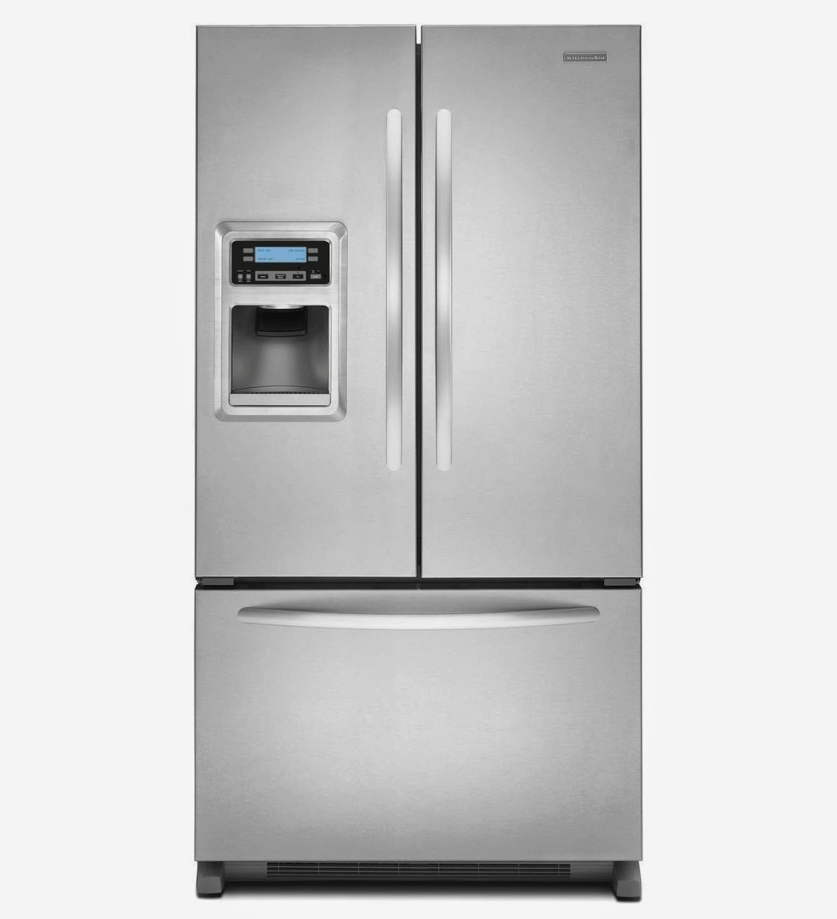 Kitchenaid Black Stainless Steel Counter Depth French Door: Counter Depth Refrigerators Reviews: Kitchenaid Counter Depth Refrigerators