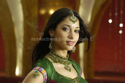 Thamanna hot in green dress