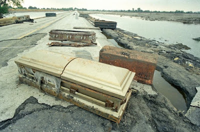 Ghost Hunting Theories Floating Caskets When Cemeteries Flood