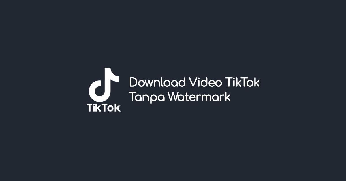 Cara Baru Download Video TikTok Tanpa Watermark atau Logo