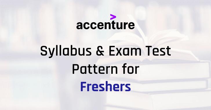 Accenture Syllabus 2021 PDF Download  | Accenture Exam Test Pattern