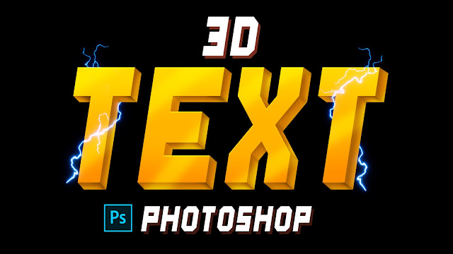 3D Text Make without Plugin in Adobe Photoshop any version
