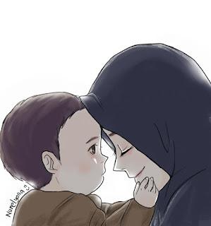 kartun ibu dan anaknya