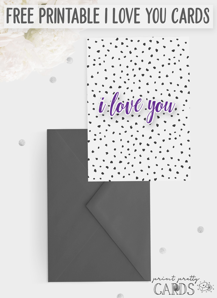 Free I Love You Card Printable