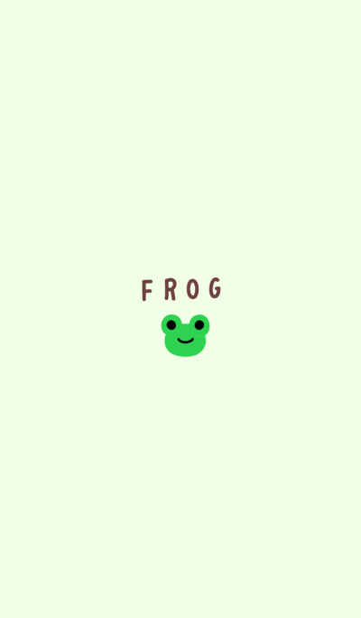 small frog.