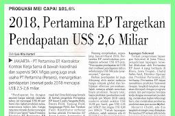 2018, Pertamina EP Targets US $ 2.6 Billion Revenue