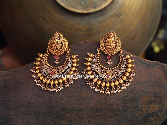 Lakshmi Design Antique Gold Chand Bali Latest Indian