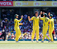 Australia beat srilanka at world cup group stage to reach the top of point table