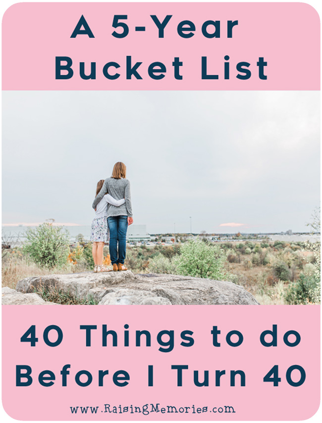5 Year Bucket List by www.RaisingMemories.com