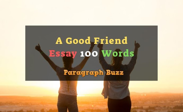 A Good Friend Essay in 100 Words