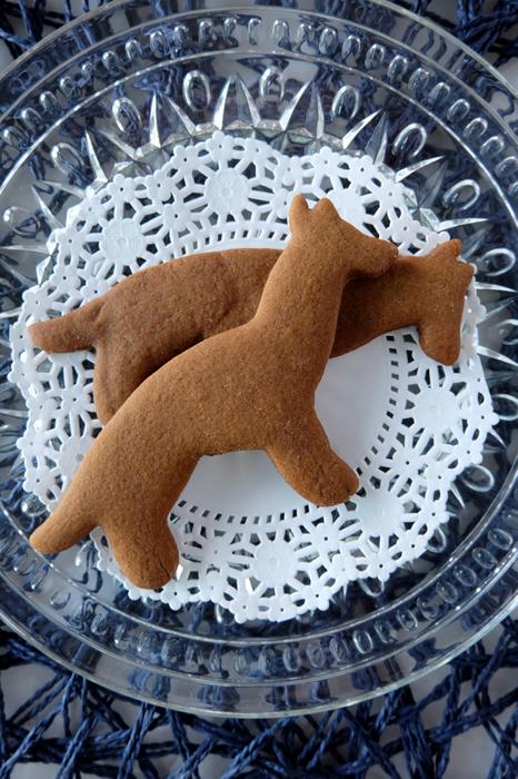 German Shepherd gingerbread cookies