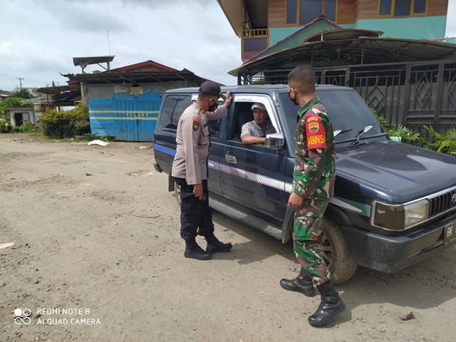 Kompak Personel Jajaran Kodim 0207/Simalungun Bersama Bhabinkamtibmas Laksanakan Gakplin